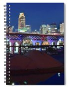 New Bridge From Along The River Spiral Notebook