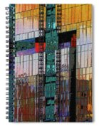 New Building Reflecting Colors Spiral Notebook