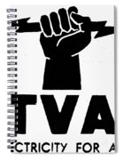 New Deal: Tva Symbol Spiral Notebook