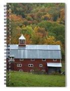 New England Barn Spiral Notebook