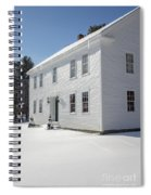 New England Colonial Home In Winter Spiral Notebook