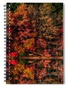 New England Fall Foliage Reflection Spiral Notebook