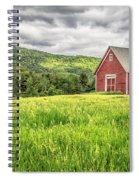 New England Farm Landscape Spiral Notebook