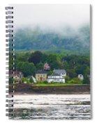 Granville Ferry Nova Scotia Canada  Fog Lifting Spiral Notebook