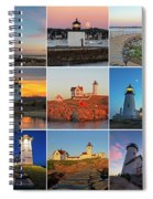 New England Lighthouse Collage Spiral Notebook