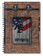 New England Patriots Brick Wall Spiral Notebook