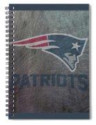 New England Patriots Translucent Steel Spiral Notebook