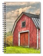New England Red Barn Pencil Spiral Notebook