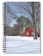 New England Red House Winter Spiral Notebook