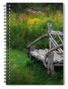 New England Summer Rustic Spiral Notebook