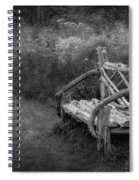 New England Summer Rustic Bw Spiral Notebook