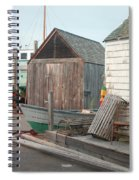 New England Wharf Scene Spiral Notebook