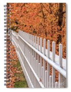 New England White Picket Fence With Fall Foliage Spiral Notebook
