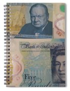 New Five Pound Notes Spiral Notebook