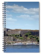 new fortress and port Corfu town Greece Spiral Notebook