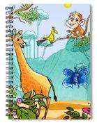 New Friends In The Jungle Spiral Notebook