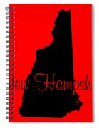 New Hampshire In Black Spiral Notebook