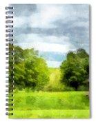 New Hampshire Landscape Red Barn Etna Spiral Notebook
