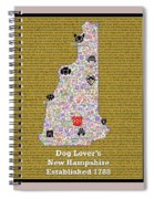 New Hampshire Loves Dogs Spiral Notebook