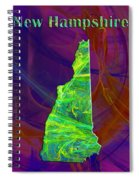 New Hampshire Map Spiral Notebook