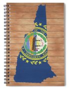New Hampshire Rustic Map On Wood Spiral Notebook