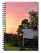 New Jersey Barn Sunset Spiral Notebook