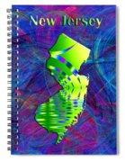New Jersey Map Spiral Notebook