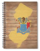 New Jersey Rustic Map On Wood Spiral Notebook