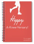 New Knee Card- Art By Linda Woods Spiral Notebook