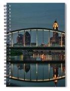 New Main Street Bridge At Dusk - Columbus, Ohio Spiral Notebook