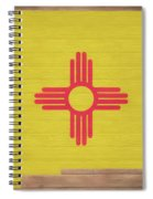 New Mexico Rustic Map On Wood Spiral Notebook