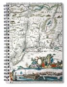 New Netherland Map Spiral Notebook