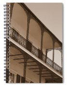 New Orleans Balcony With Lamp Spiral Notebook