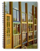 New Orleans Closed Door And A Window Of Many Views Spiral Notebook