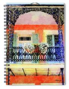 New Orleans French Quarter Balcony Spiral Notebook