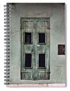 New Orleans Green Doors Spiral Notebook