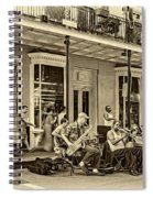 New Orleans Jazz 2 - Sepia Spiral Notebook