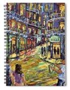 New Orleans Jazz Night By Prankearts Fine Art Spiral Notebook