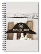 New Orleans Sign - Napoleon House - Sepia Spiral Notebook