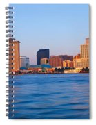 New Orleans Skyline From Algiers Point Spiral Notebook