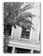 New Orleans Windows - Black And White Spiral Notebook