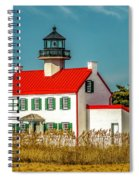 New Paint On East Point Lighthouse Spiral Notebook