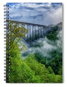 New River Gorge Bridge Morning  Spiral Notebook