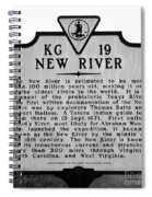 New River Historical Marker Spiral Notebook