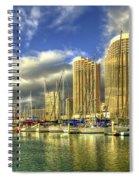 Ala Wai Harbor Waikiki Yacht Club Honolulu Hawaii Collection Art Spiral Notebook