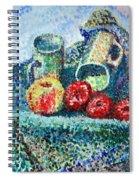 New Work Painted In Pointillism  Spiral Notebook