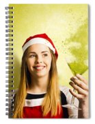 New Year Christmas Party Spiral Notebook