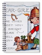 New Year Postcard Spiral Notebook