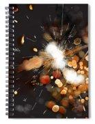 New Year Sparklers Spiral Notebook