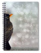New Years Card Spiral Notebook